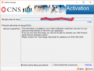 CNS LicenseManager Activation