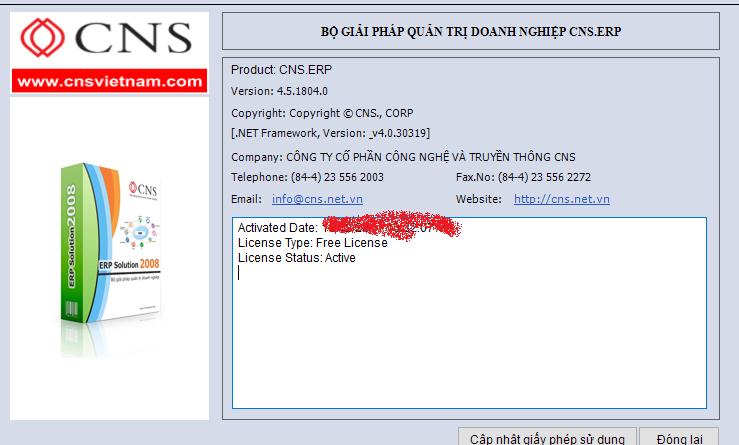 CNS LicenseManager LicenseInfo