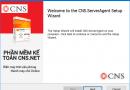 Cài đặt CNS Web Service