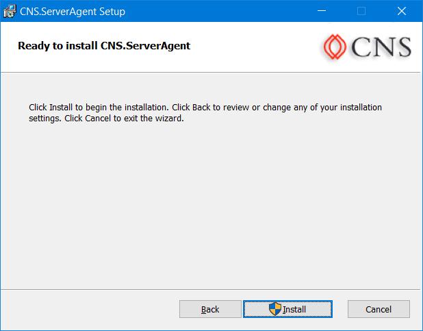 Install CNS Web Service