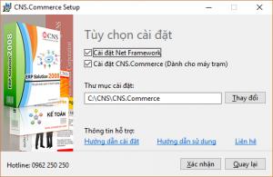 Thay đổi Tùy chọn cài đặt phần mềm bán hàng CNS.Commerce