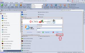 Đăng nhập phần mềm CNS.NET