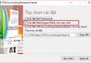 Thay đổi Tùy chọn cài đặt phần mềm CNS